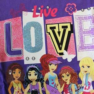 Glitter inks add fun flair to a girls' t-shirt.