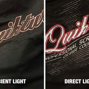 Compare the difference a light makes - excellent for sportswear.