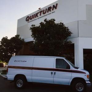 Fleet van returning for a new pick-up.