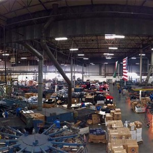 Bird's eye view of our warehouse