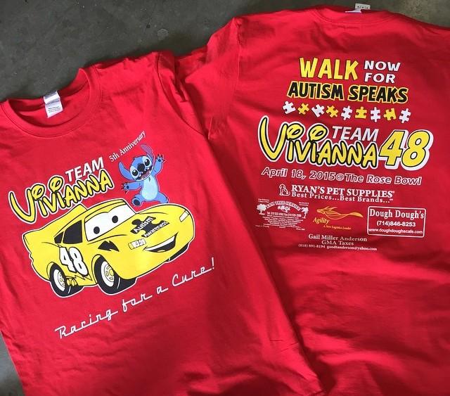 Autism Speaks 2015 Team Vivianna T-shirt